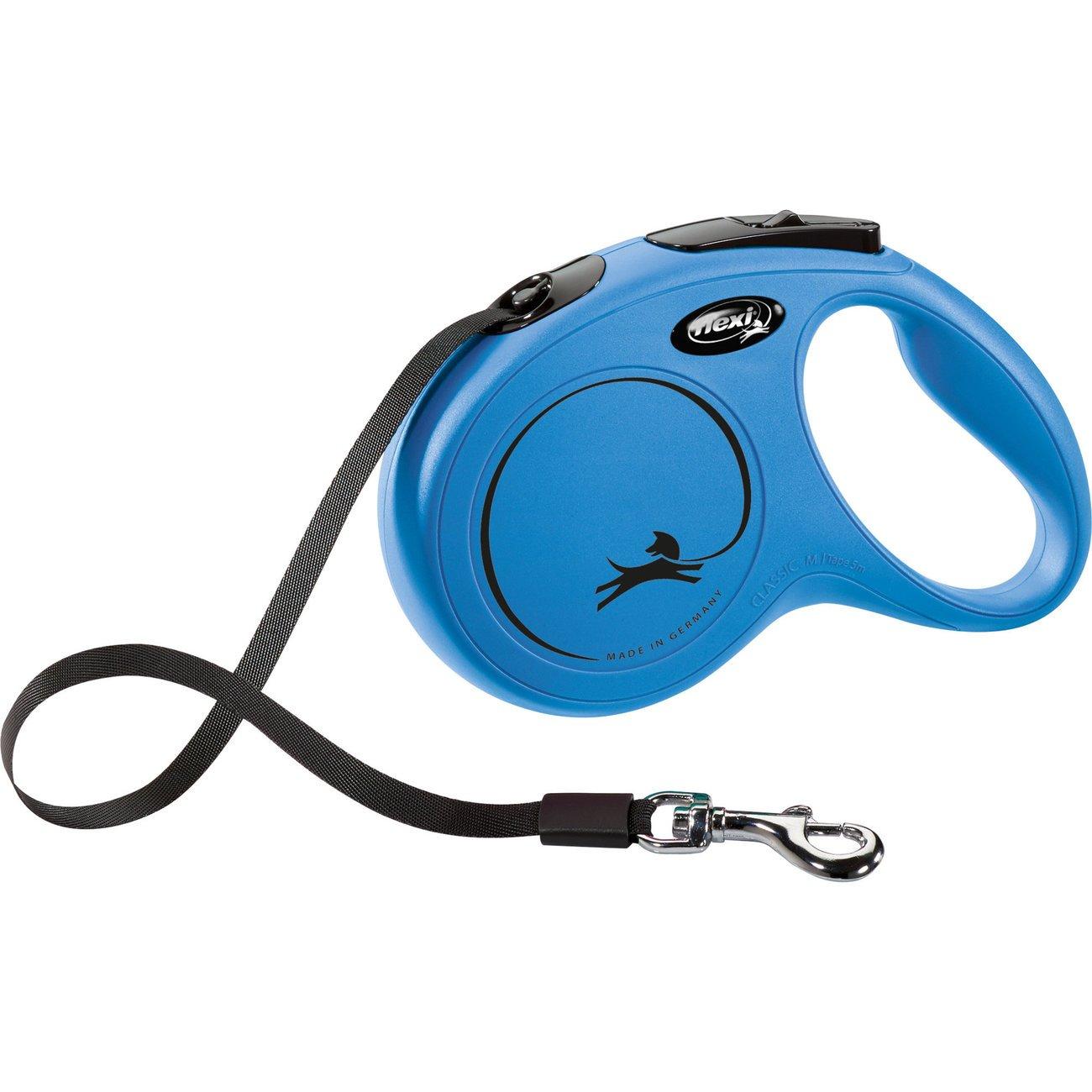 flexi NEW CLASSIC Gurt Rollleine, M: 5 m, bis 25 kg, blau
