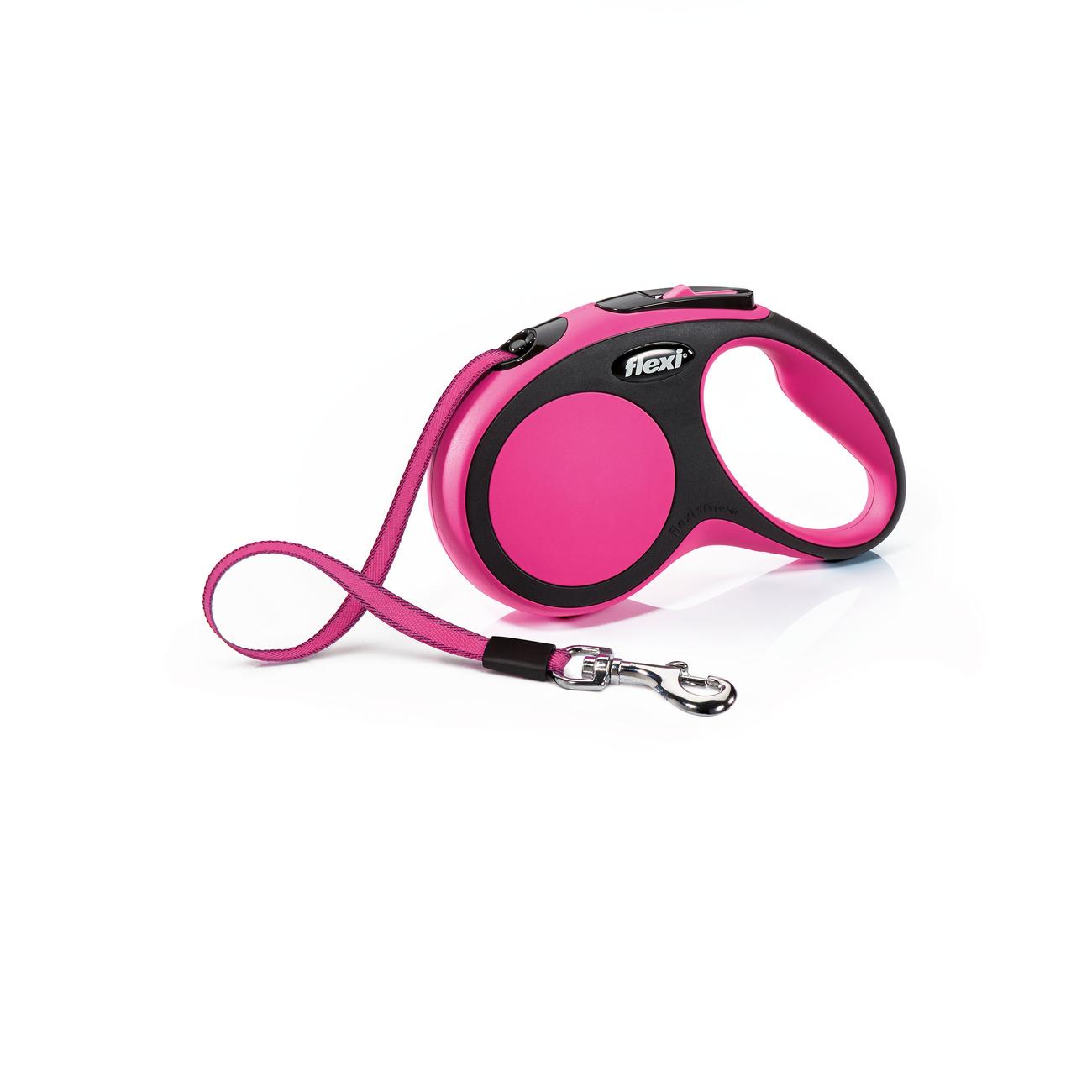 flexi New Comfort Gurt Rollleine, XS: 3 m, pink