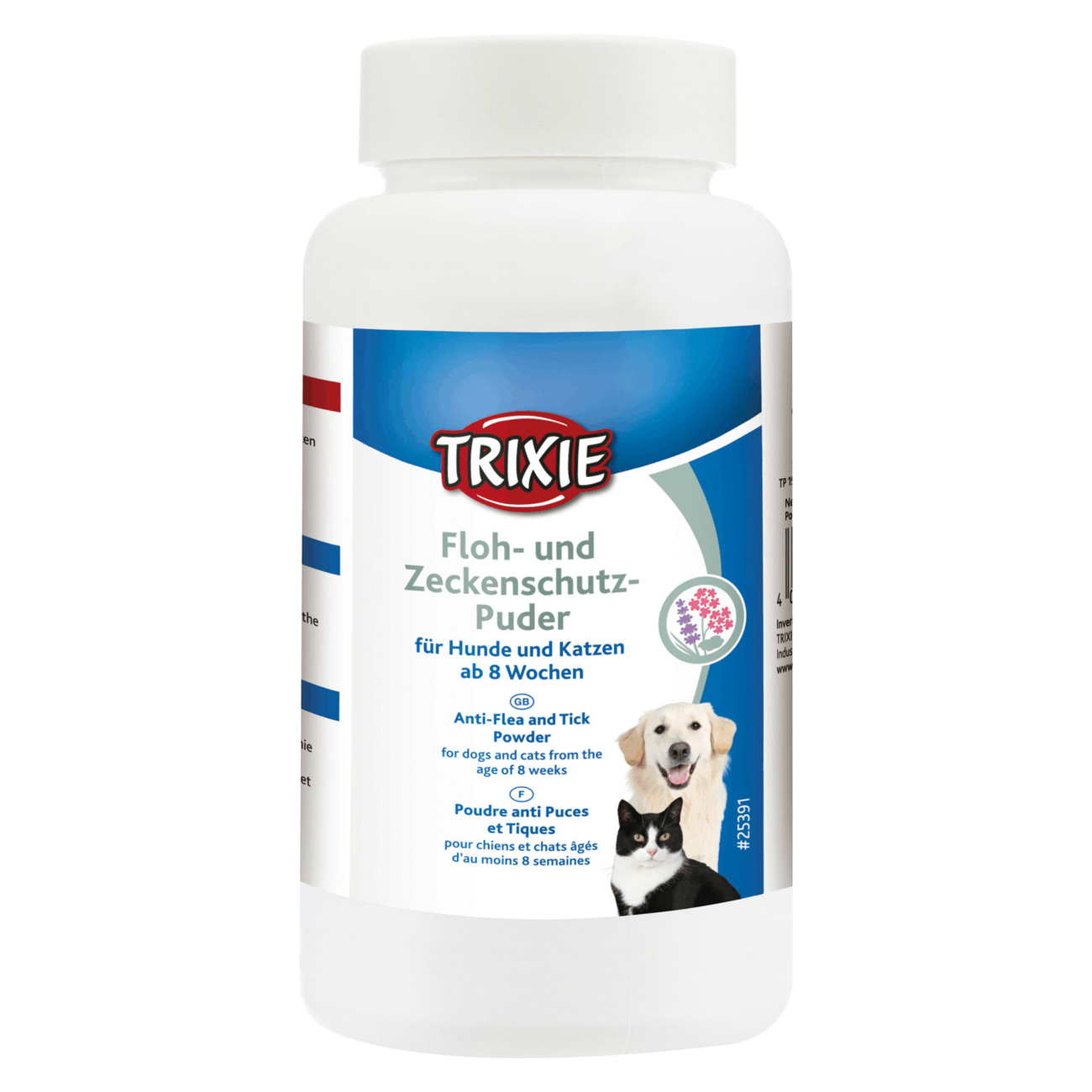 TRIXIE Flohschutz und Zeckenschutz-Puder für Hunde und Katzen 25391