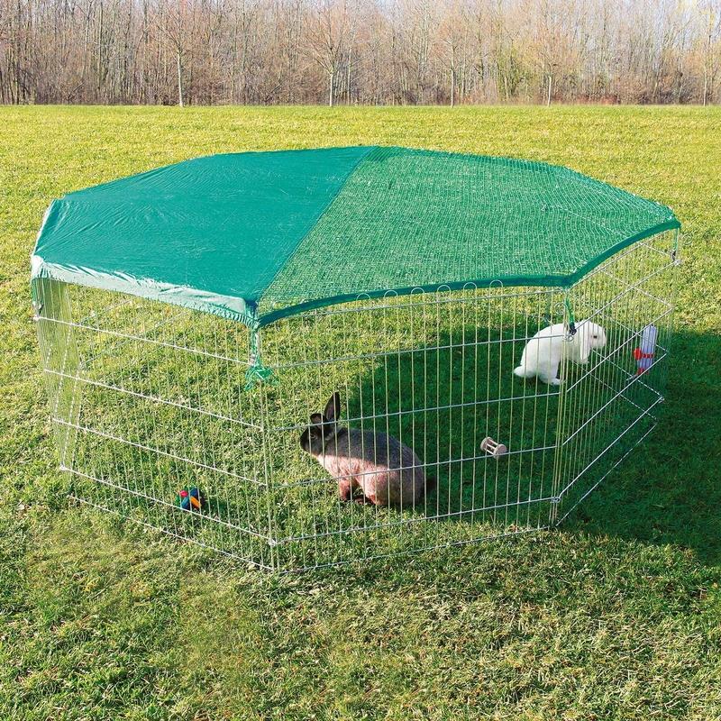 TRIXIE Freilaufgehege für Kleintiere mit Schutznetz 6243