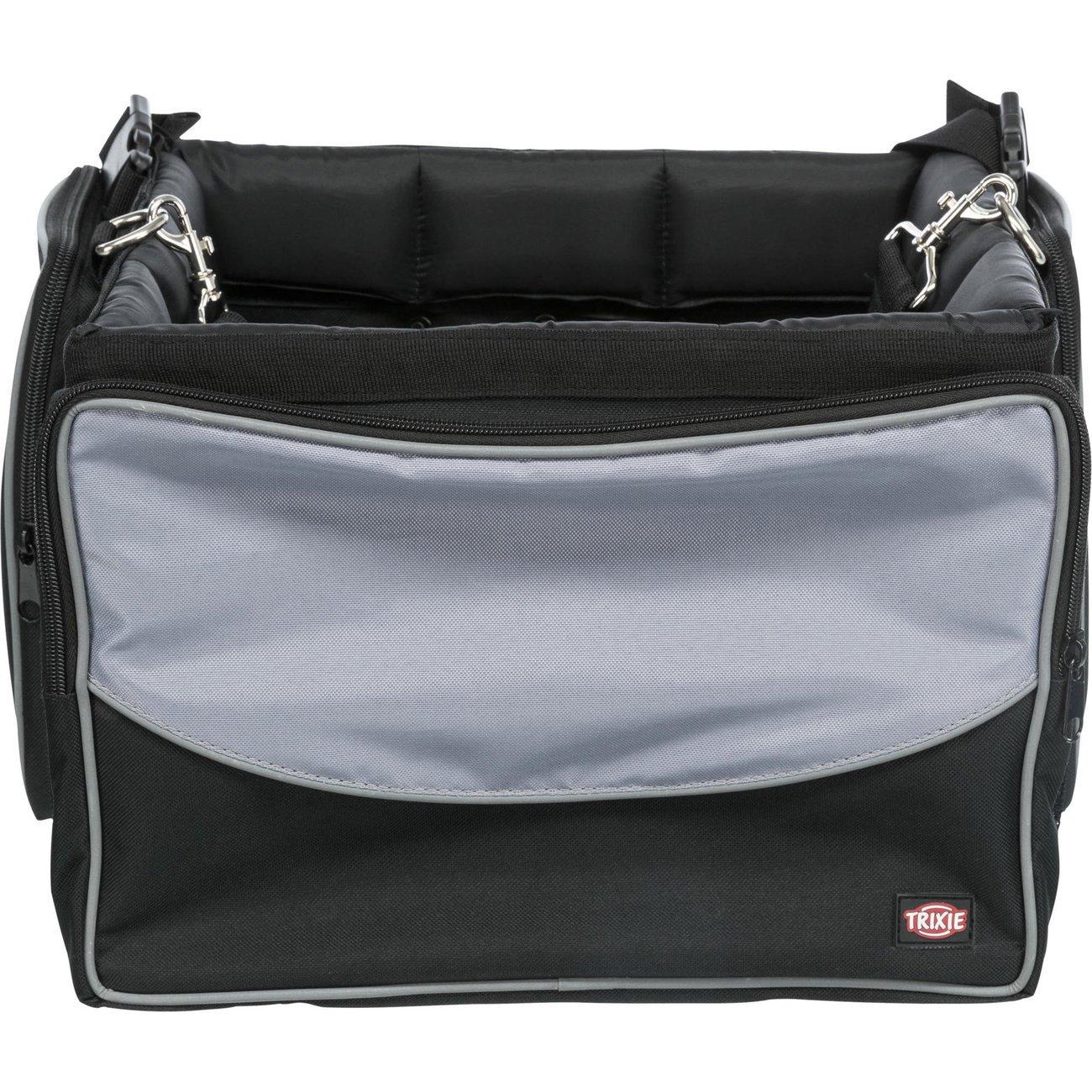 Trixie Front-Box Fahrradtasche, 41 × 26 × 26 cm, schwarz/grau