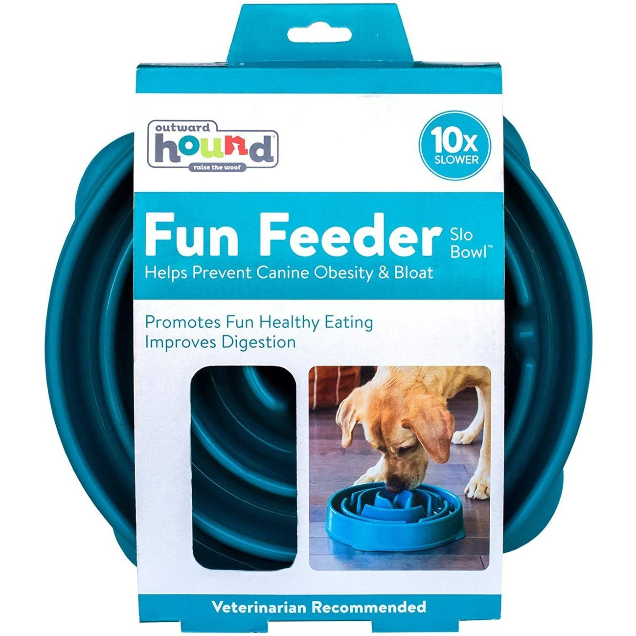 Outward Hound Fun Feeder Slo-Bowl Anti Schling Hundenapf, Bild 9