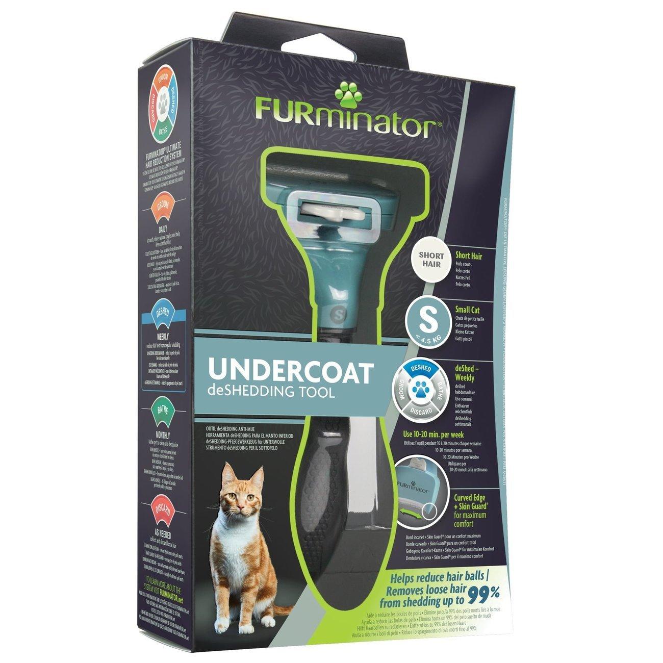 FURminator® Katzen-Fellpflegewerkzeuge Kurzhaar, für kleine kurzhaarige Katzen, Gr. S, bis 4,5 kg