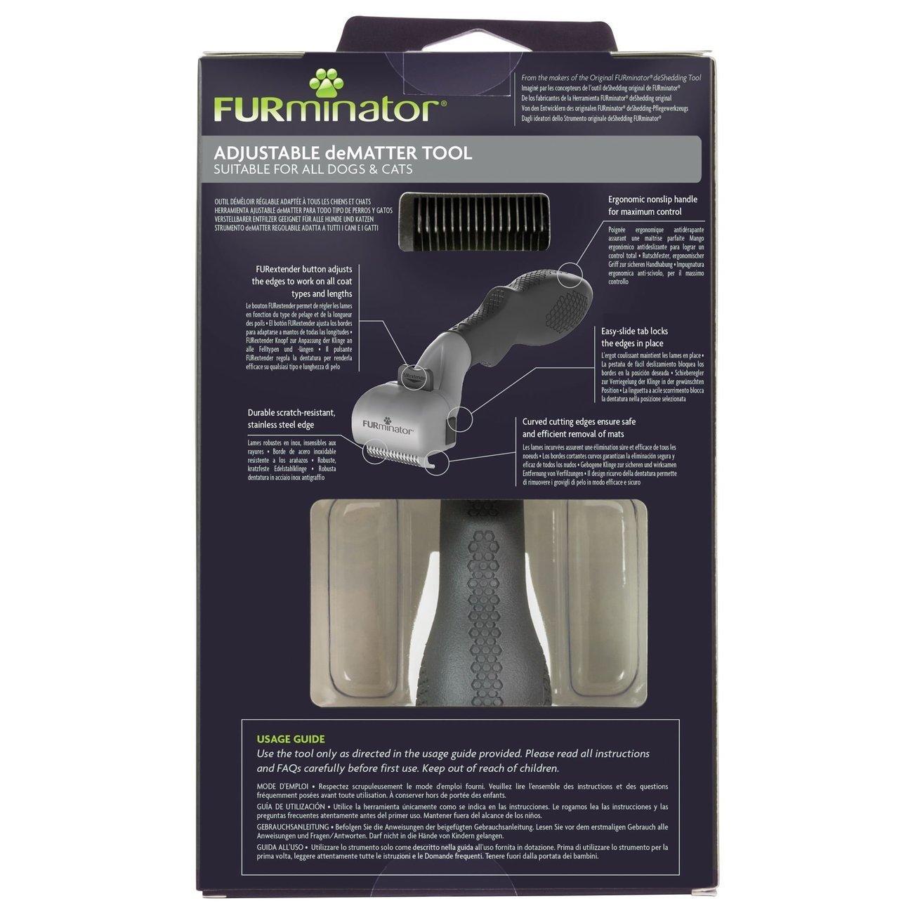 FURminator® verstellbarer Entfilzer für Katzen und Hunde, Bild 3