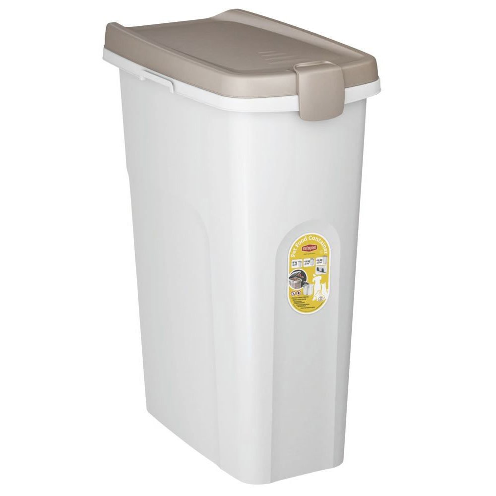 Stefanplast Futtertonne für Trockenfutter, für ca. 15 kg Trockenfutter, 40 Liter (L45 x B27 x H61 cm)