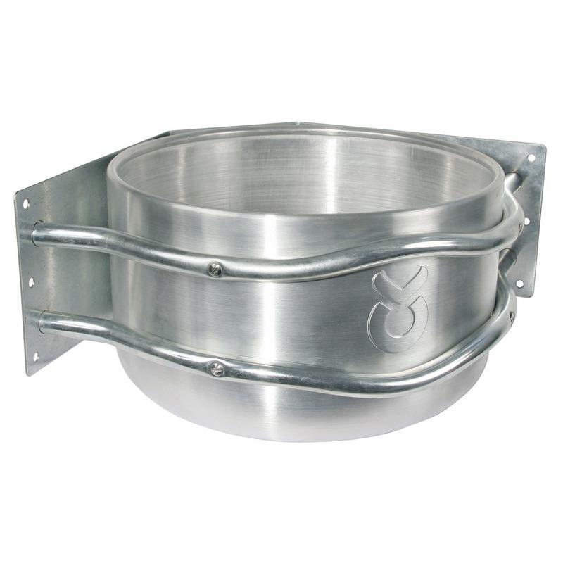 Kerbl Futtertrog Aluminium mit Ablauf