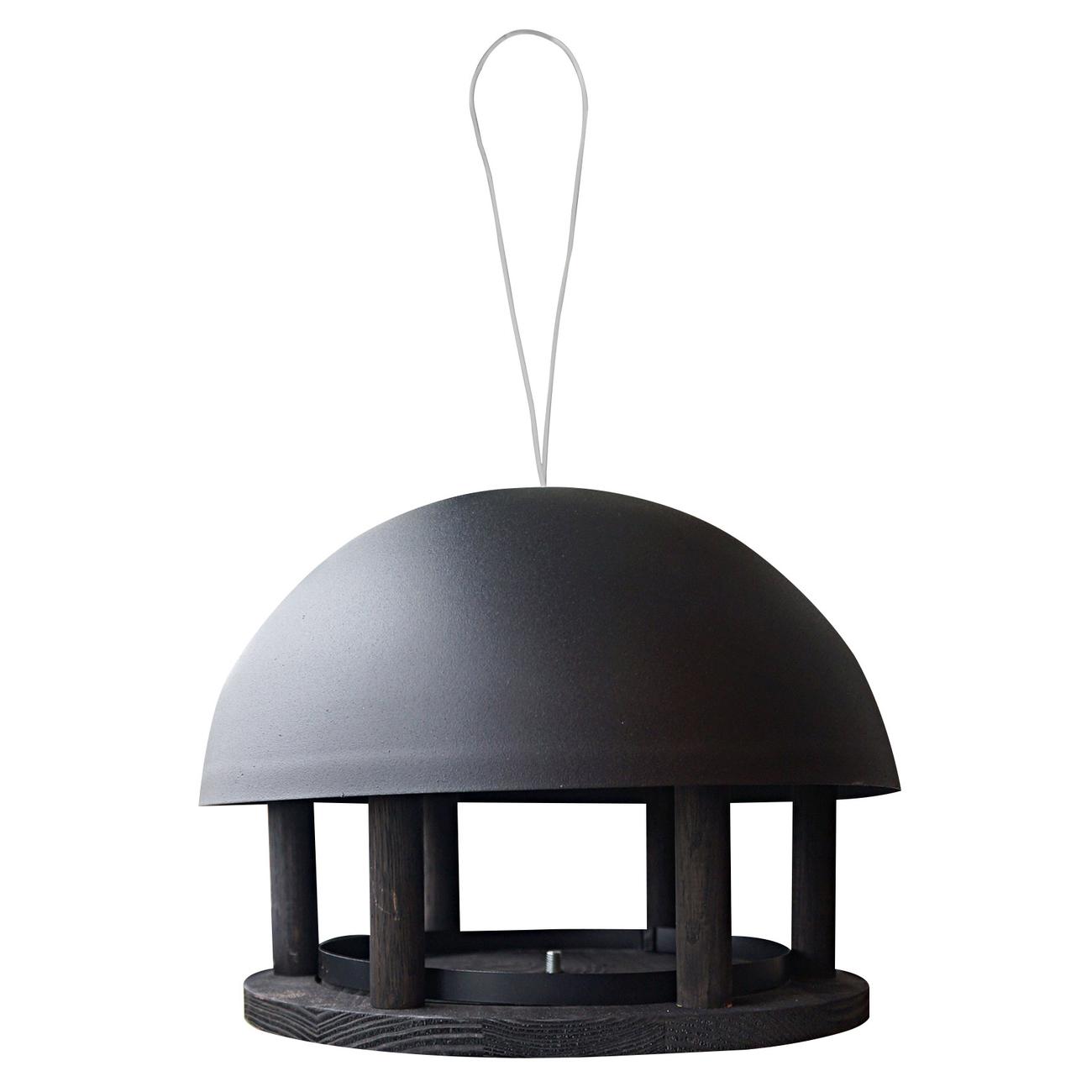 GARDENLIFE Vogelfutterhaus Dome Black zum Aufhängen