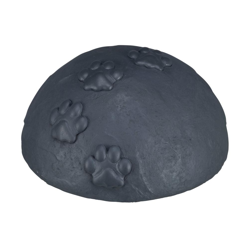 Trixie Gedenkstein für Hunde Gedenkkuppel mit Pfoten, ø 15 × 8 cm, grau