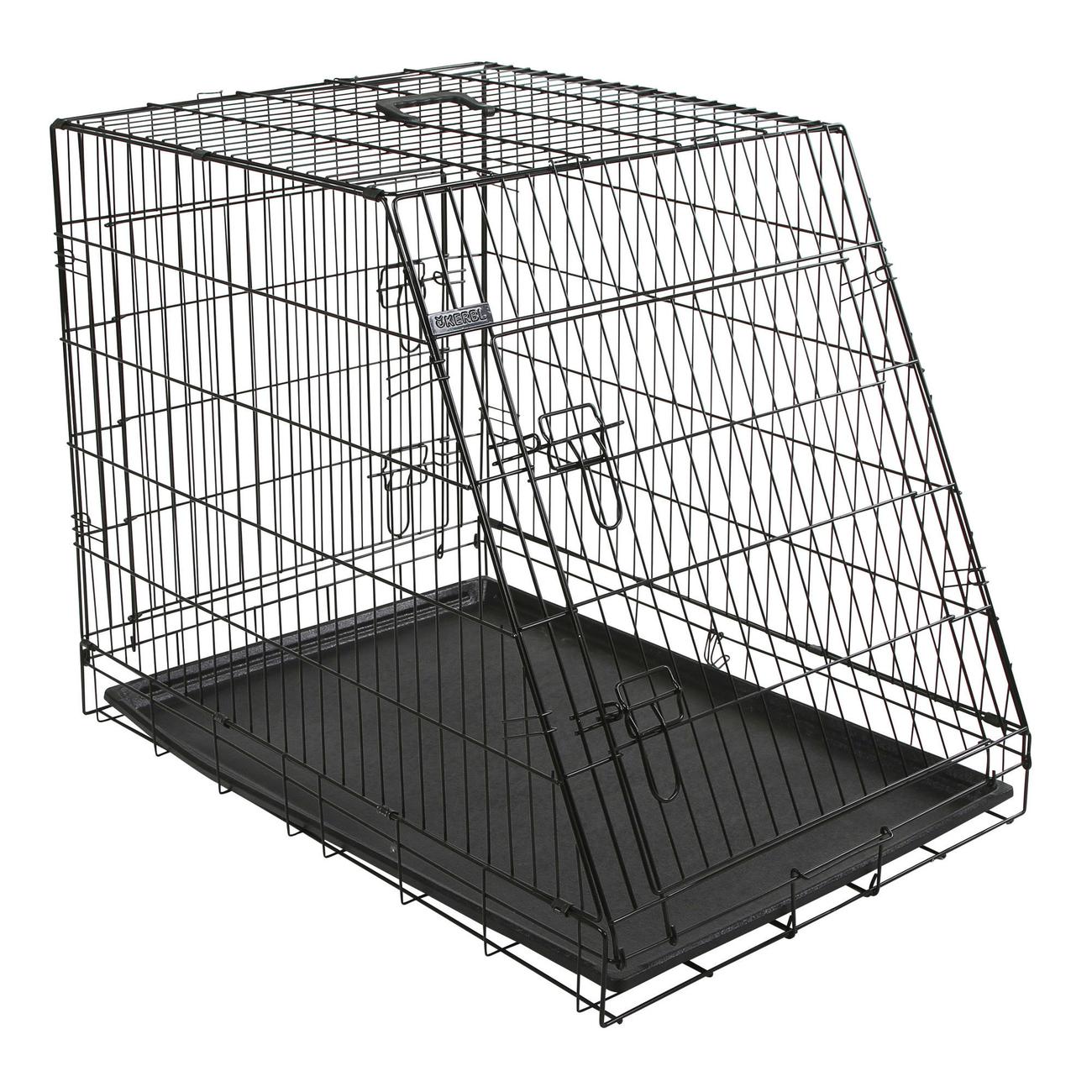 Kerbl Gitter Transportbox für Hunde abgeschrägt