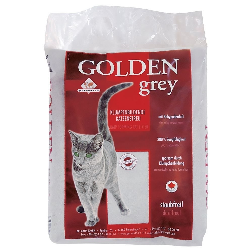 Pet-Earth Golden Grey Katzenstreu, 14 kg