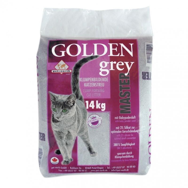 Pet-Earth Golden Grey Master mit Babypuderduft Katzenstreu