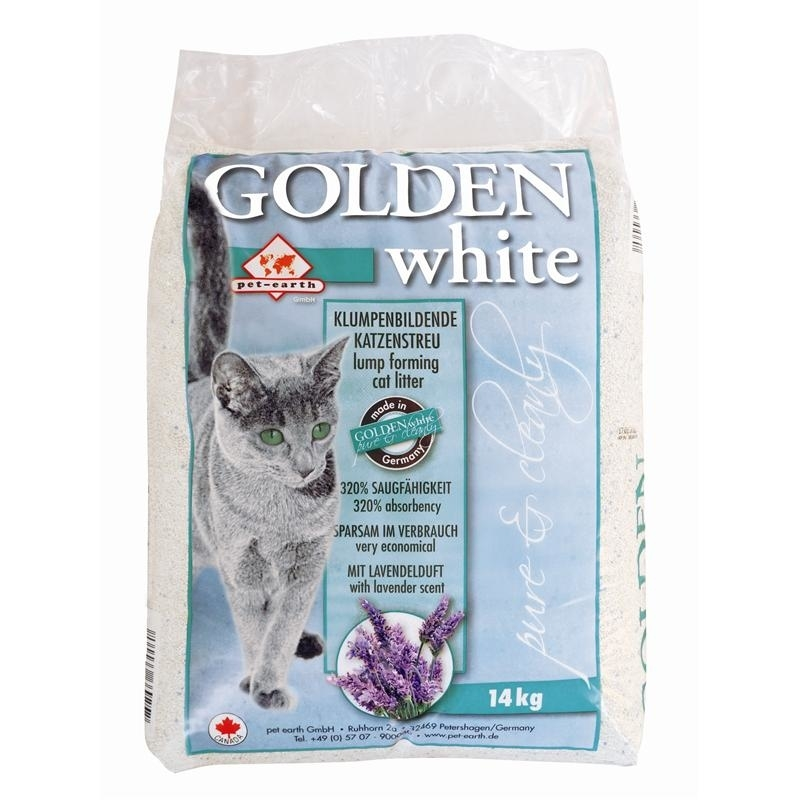 Pet-Earth Golden White Katzenstreu mit Lavendelduft