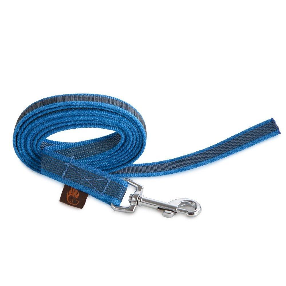 Firedog Gurtleine für Hunde ohne Handschlaufe, 20mm 10m ohne Handschlaufe blau