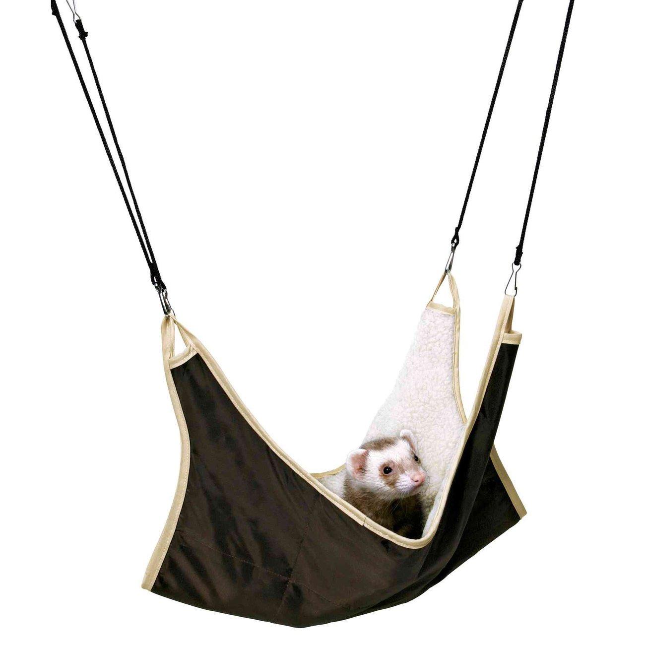 Trixie Hängematte für Frettchen und Ratten, 45 × 45 cm, braun-beige