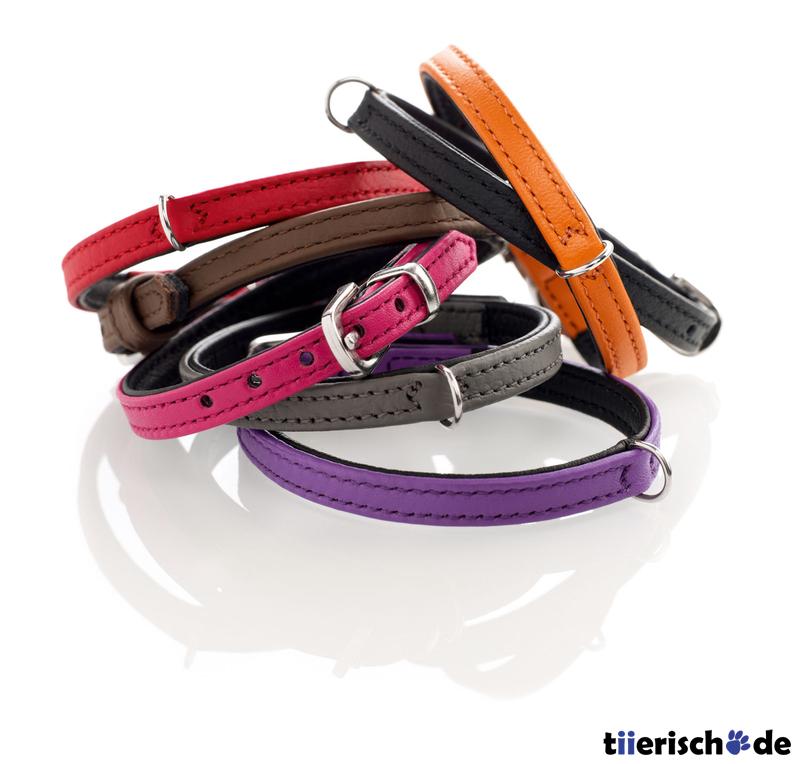 Hunter Halsband für kleine Hunde Tiny Petit aus Leder 46426