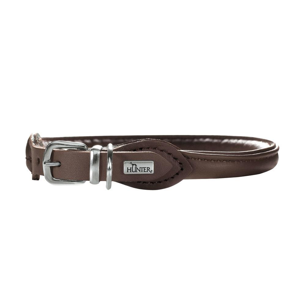 Hunter Halsband Round & Soft Petit Elchleder für kleine Hunde 42072