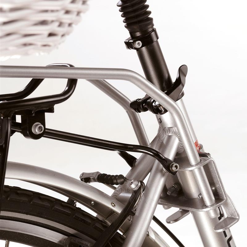 Halter für Hundefahrradkorb von Aumüller mit Rahmenmontage, Ersatzhalterung
