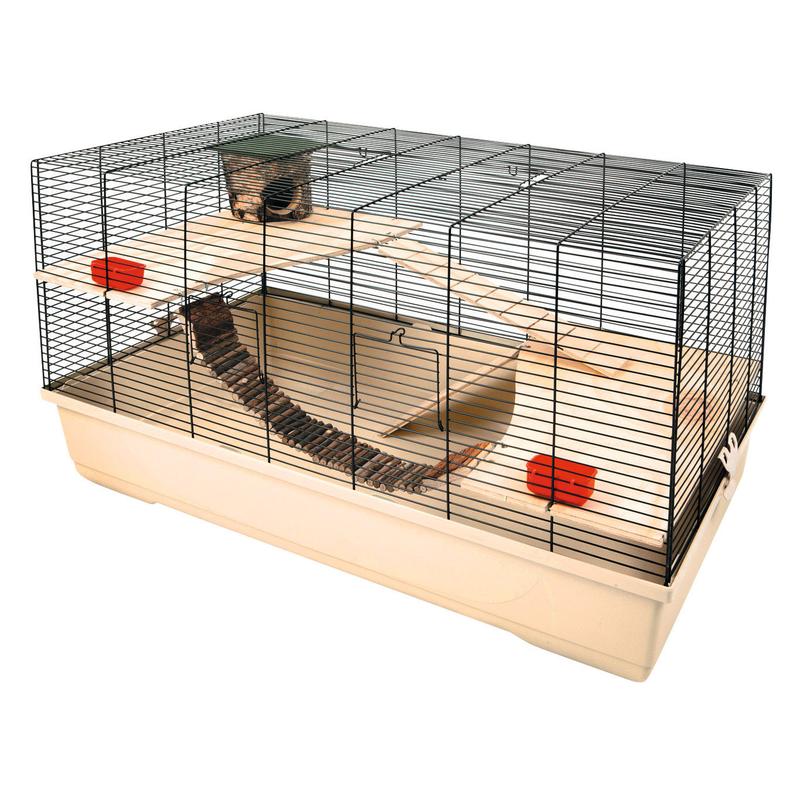Kerbl Hamsterkäfig Gabbia 102, beige, L100 x B53 x H55 cm