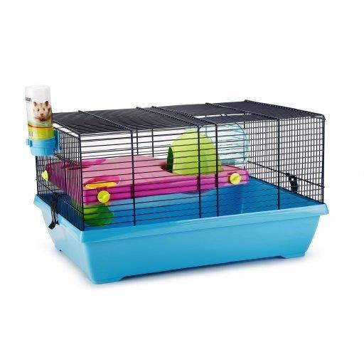 Beeztees Hamsterkäfig Peggy, blau - 50 x 36 x 28 cm
