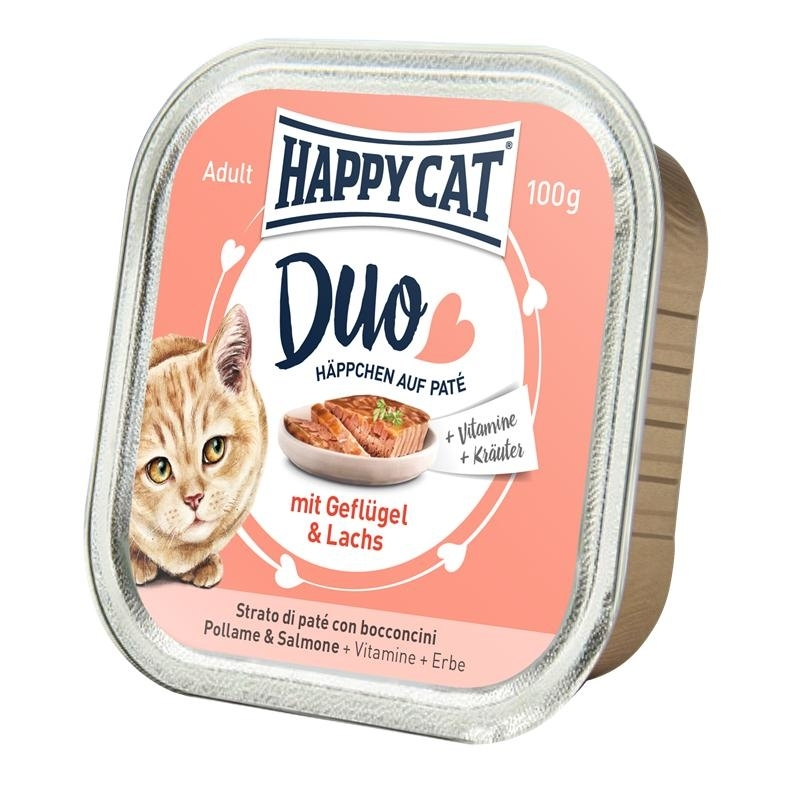 Happy Cat Duo Paté Nassfutter für Katzen