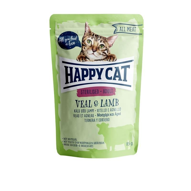 Happy Cat Pouches All Meat Adult Sterilised