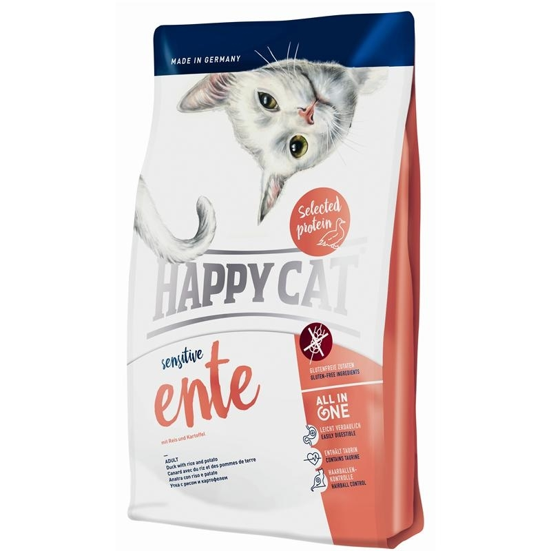 Happy Cat Sensitive Ente Katzenfutter, 4 kg