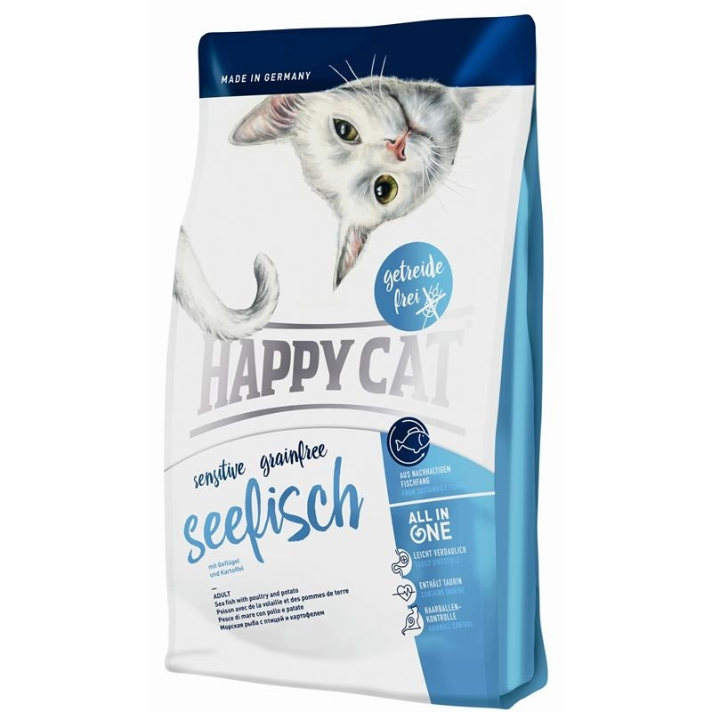 Happy Cat Sensitive Grainfree Seefisch Katzenfutter