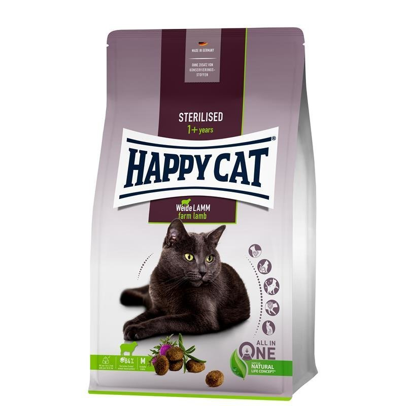 Happy Cat Sterilised Adult Weide Lamm