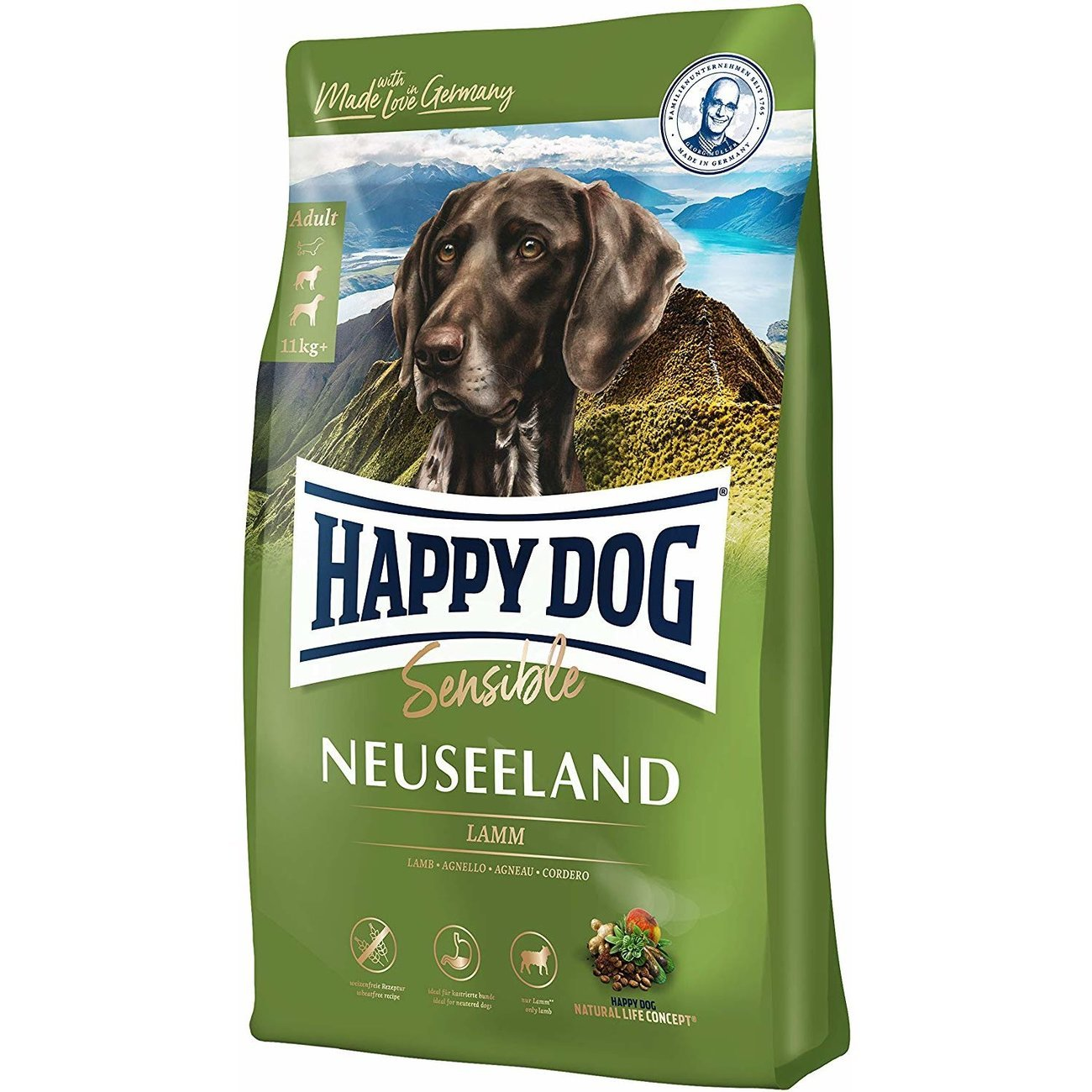 Happy Dog Supreme Neuseeland Lamm Reis, 12.5 kg