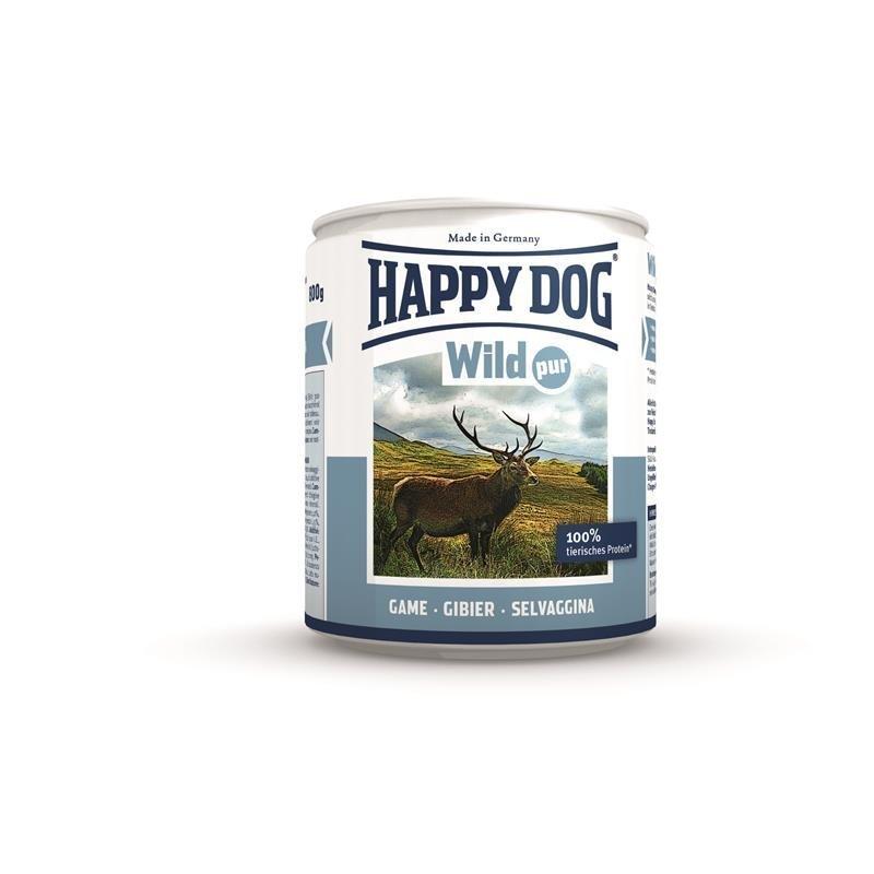 Happy Dog Wild Pur Nassfutter für Hunde, 6 x 400 g