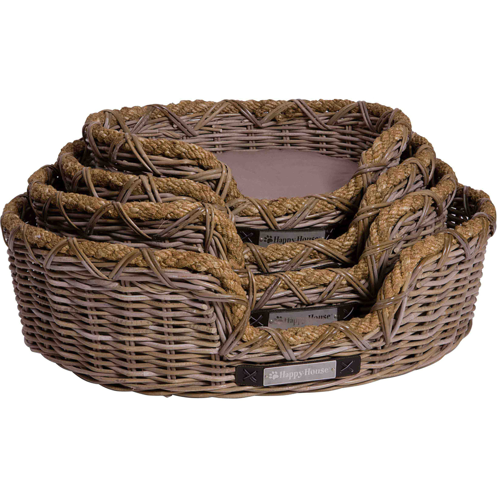Happy House Hundekorb Rattan, XL: 84 x 73 x 25 cm