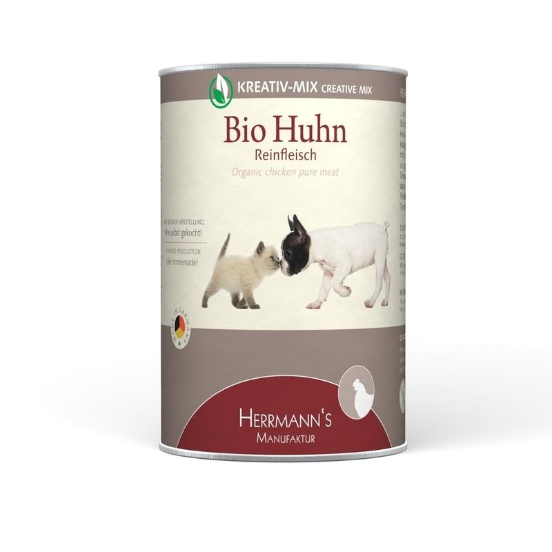 Herrmanns Bio Hundefutter Reinfleisch Dose, Bio-Ente 6x800g
