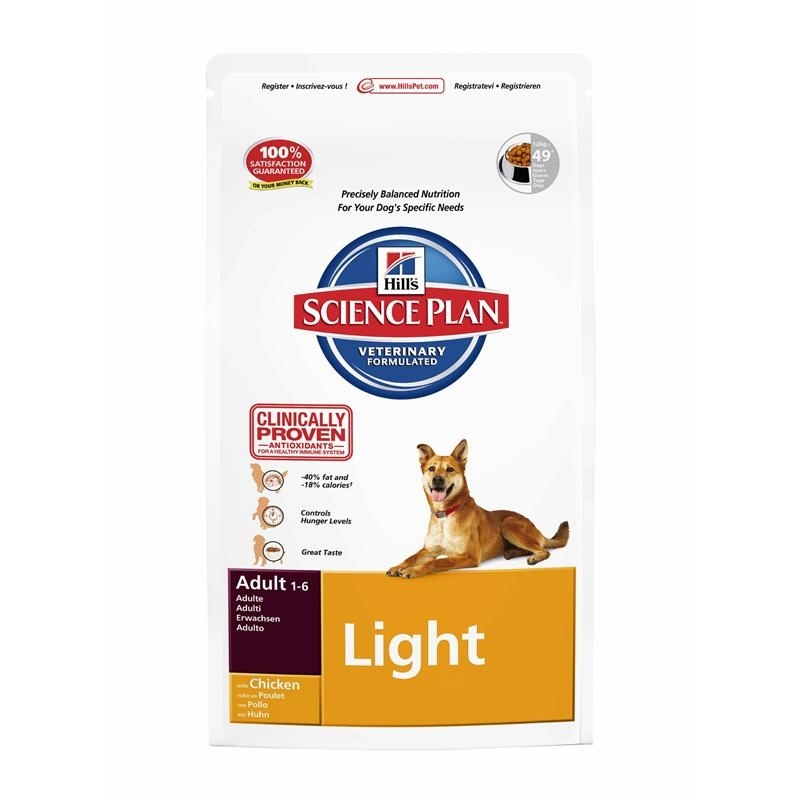 Hills Canine Adult Light Huhn Hundefutter, 3 kg