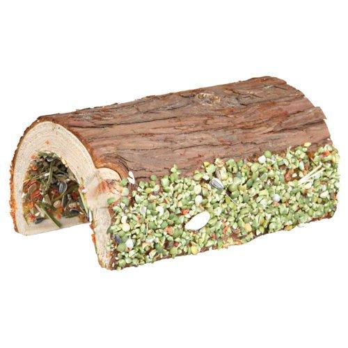 TRIXIE Holz Brücke Kaninchen und Kleinnager mit Gemüse und Nüssen 60772