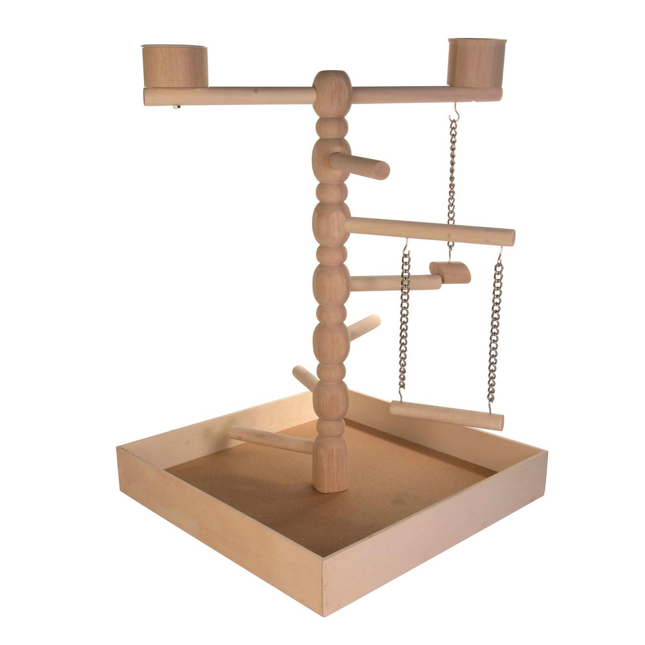 Trixie Holz Spielplatz für Papageien, 41×55×41 cm