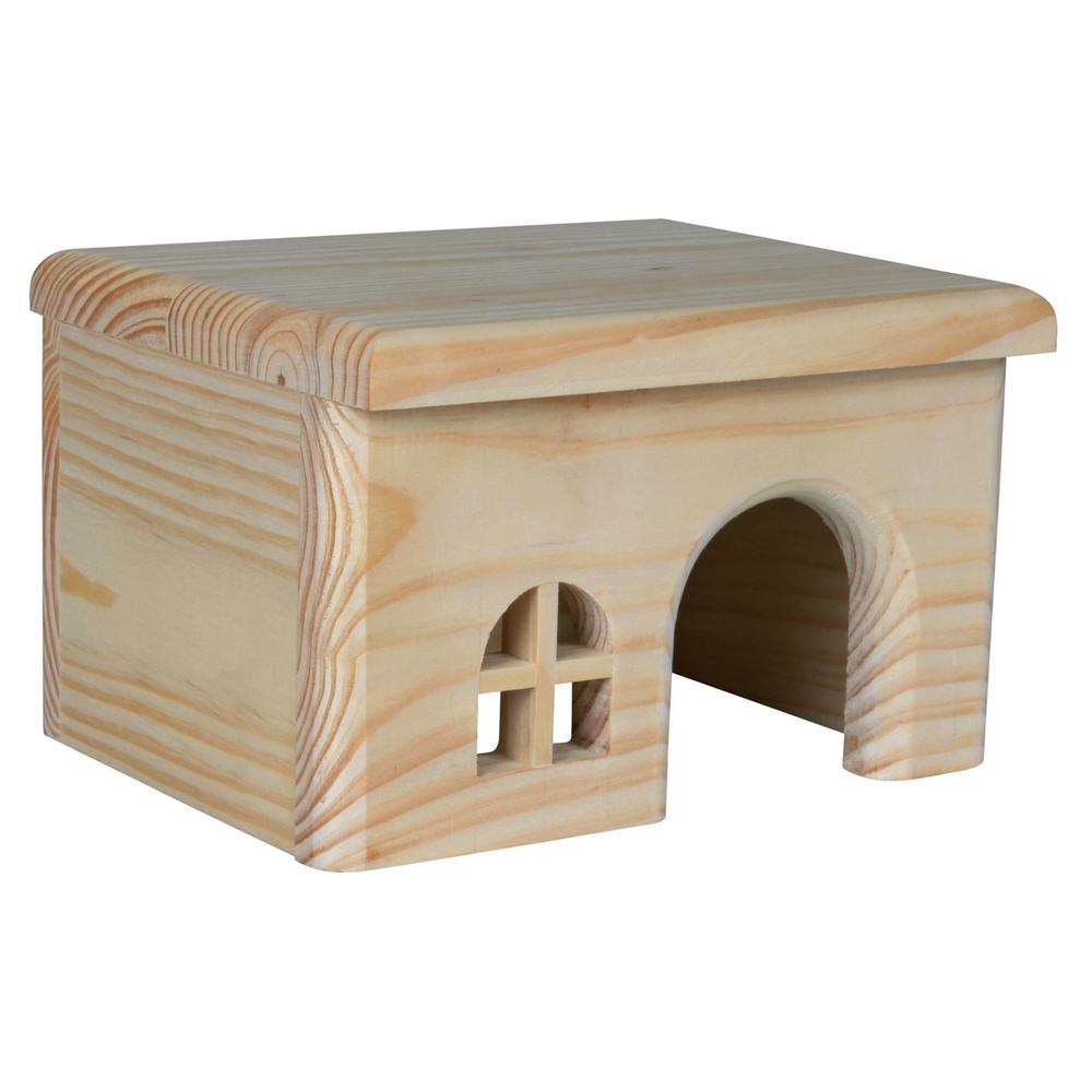 Trixie Holzhaus für Kleintiere ohne Nägel und Klammern, Hamster, 15 × 12 × 15 cm