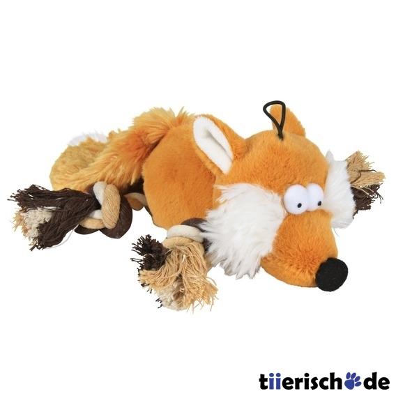 Trixie Fuchs mit Taubeinen Plüschtier für Hunde, 34 cm