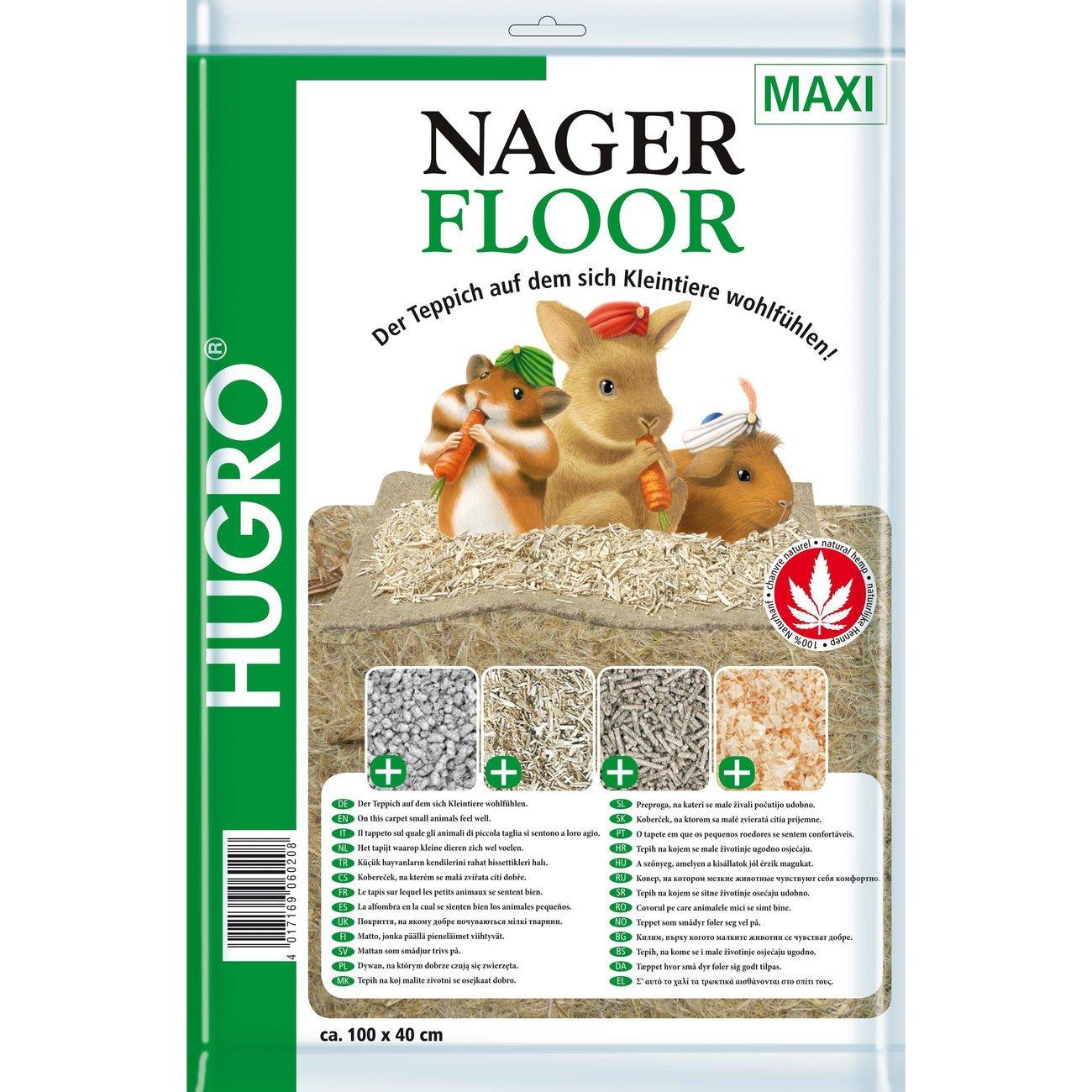 Hugro Nagerteppich Nagerfloor Hanfmatte, Maxi 40x100cm
