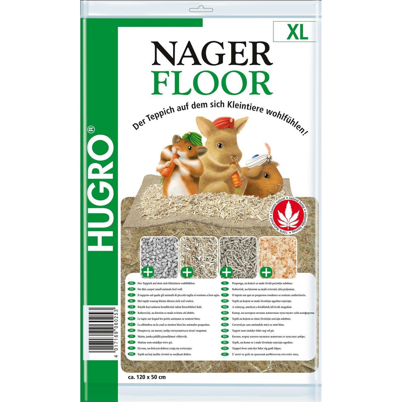 Hugro Nagerteppich Nagerfloor Hanfmatte, XL 50x120cm