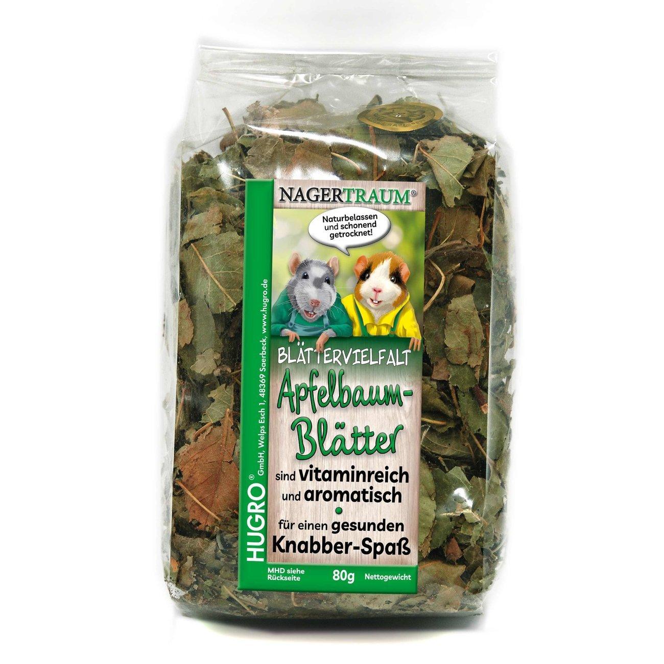 HUGRO® Nagertraum Apfelbaumblätter, 80 g