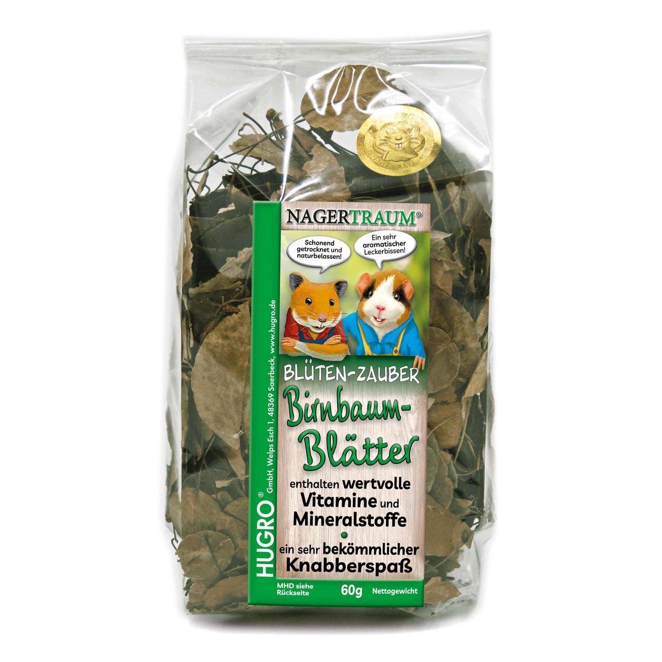 HUGRO® Nagertraum Birnbaumblätter, 60 g