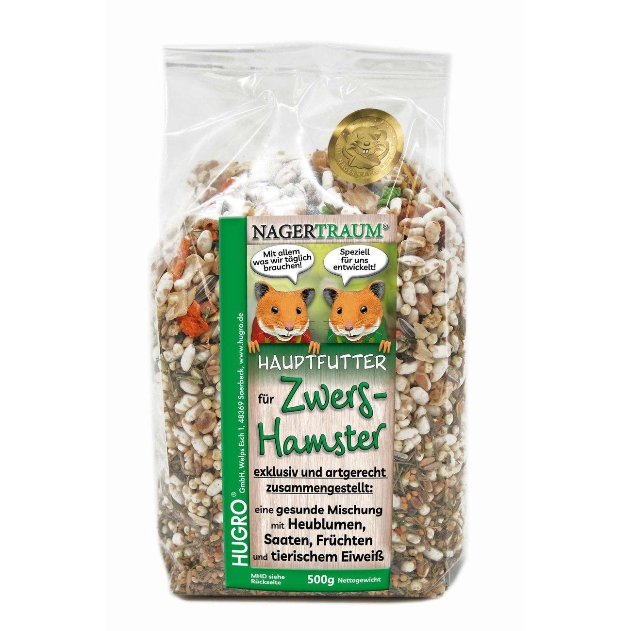 Hugro Nagertraum Exquisit Zwerghamsterfutter, 500 g
