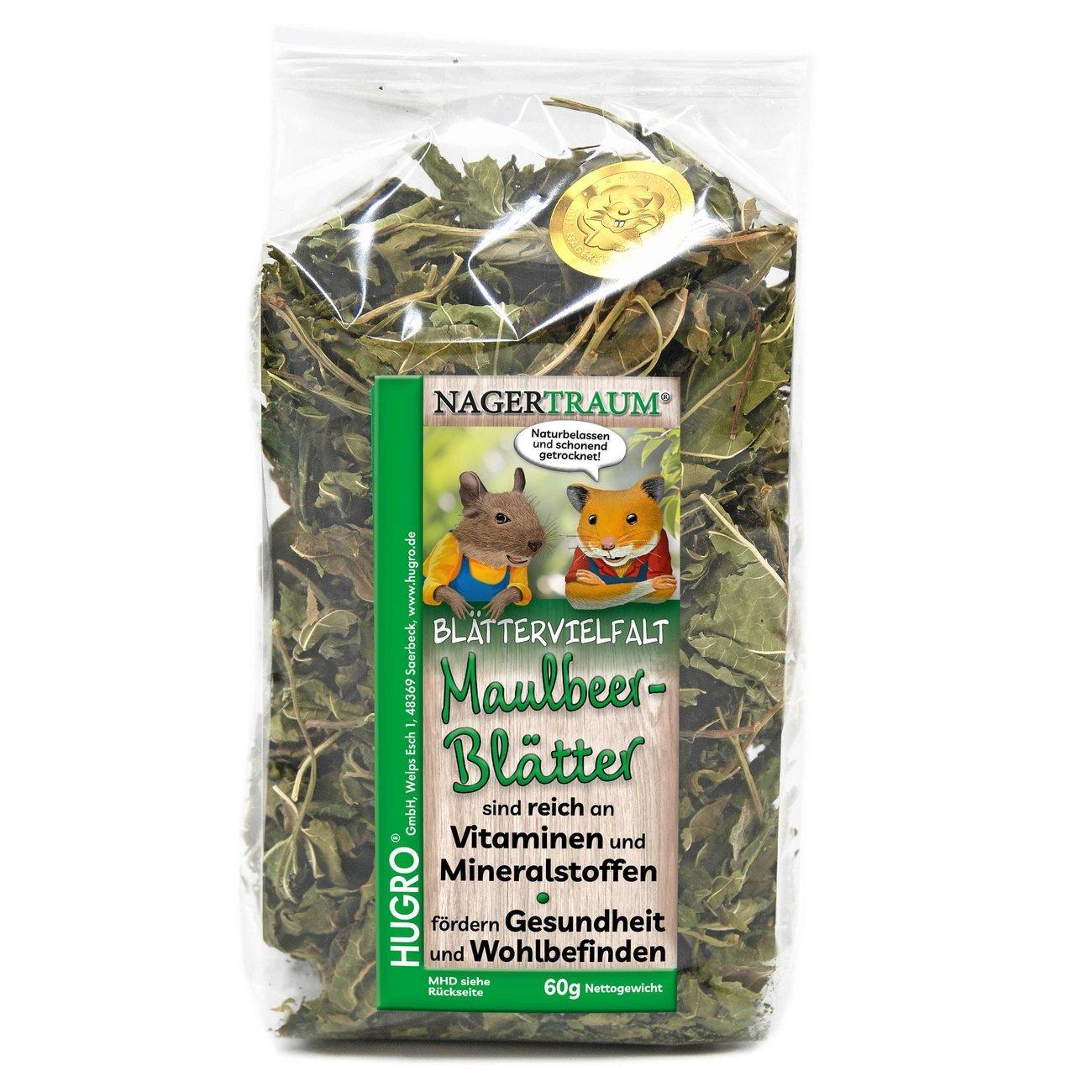 HUGRO® Nagertraum Maulbeerblätter, 60 g