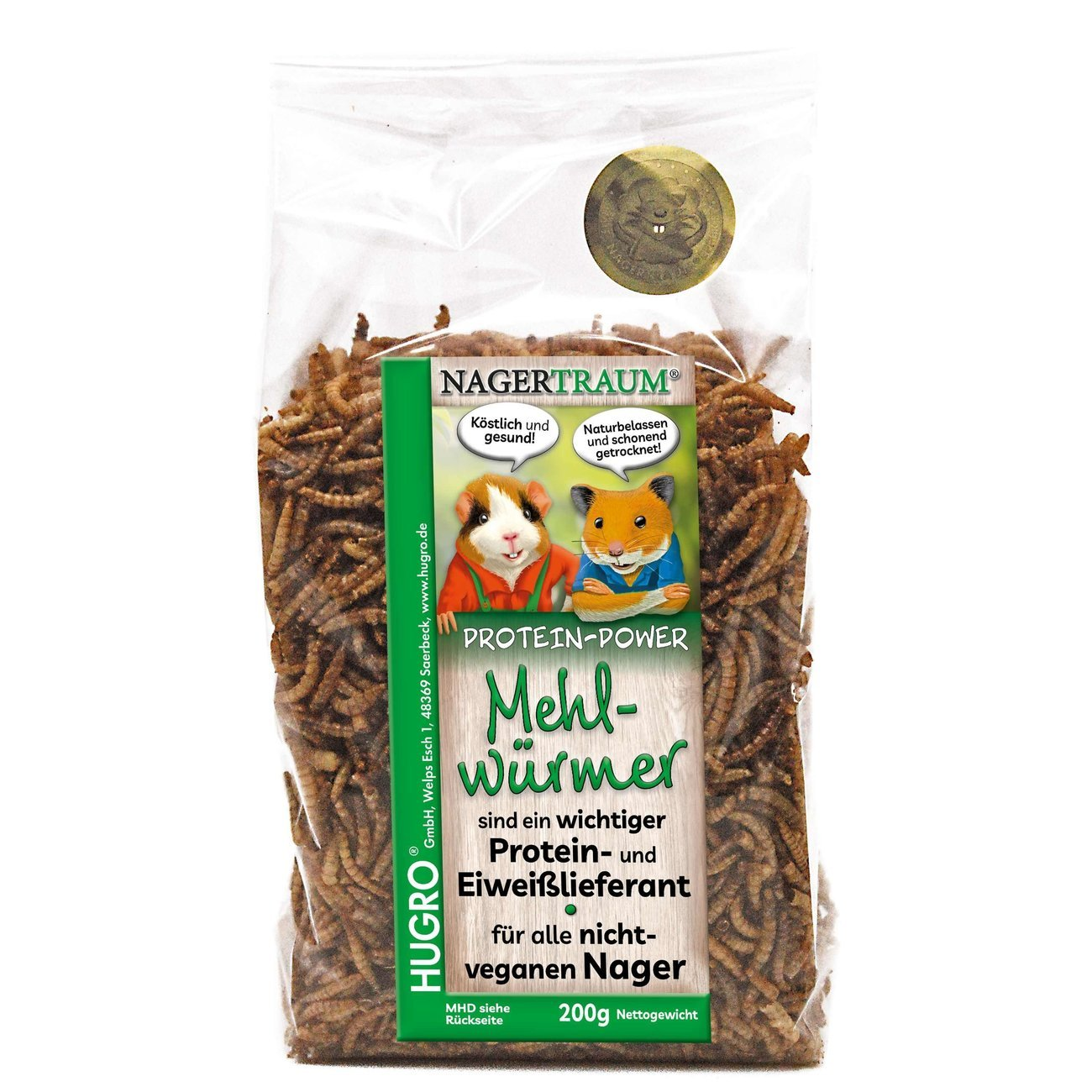 HUGRO® Nagertraum Mehlwürmer, 200 g