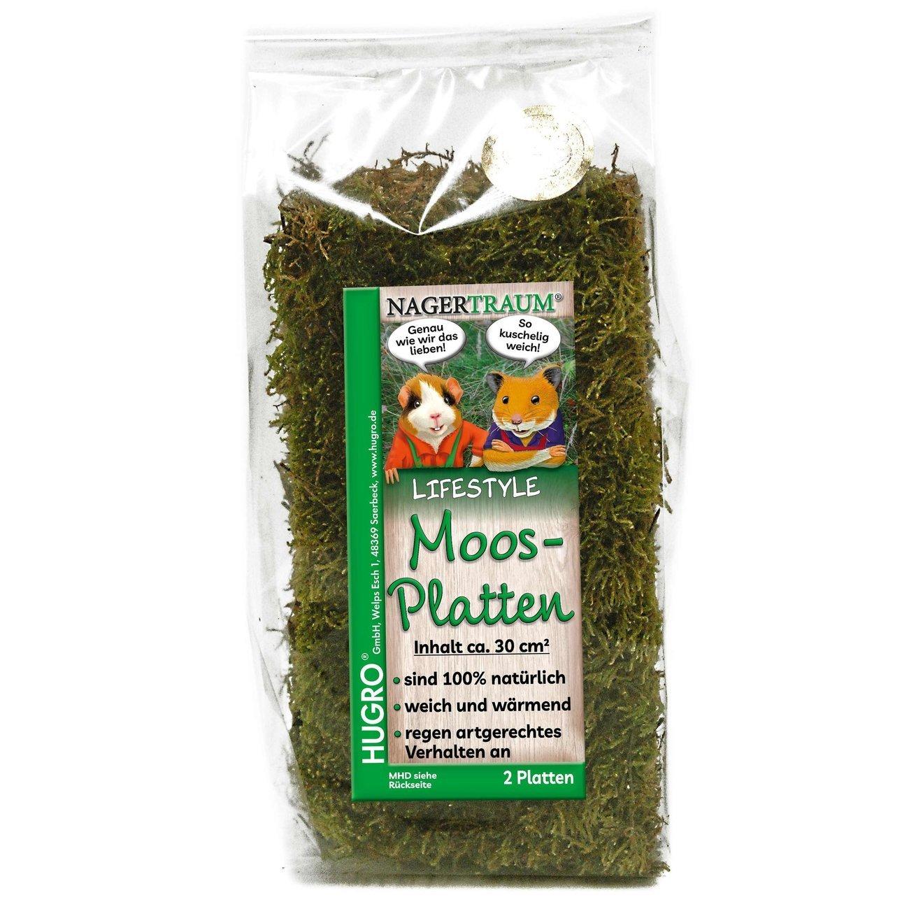 Hugro® Nagertraum Moosplatten, 2 Stück
