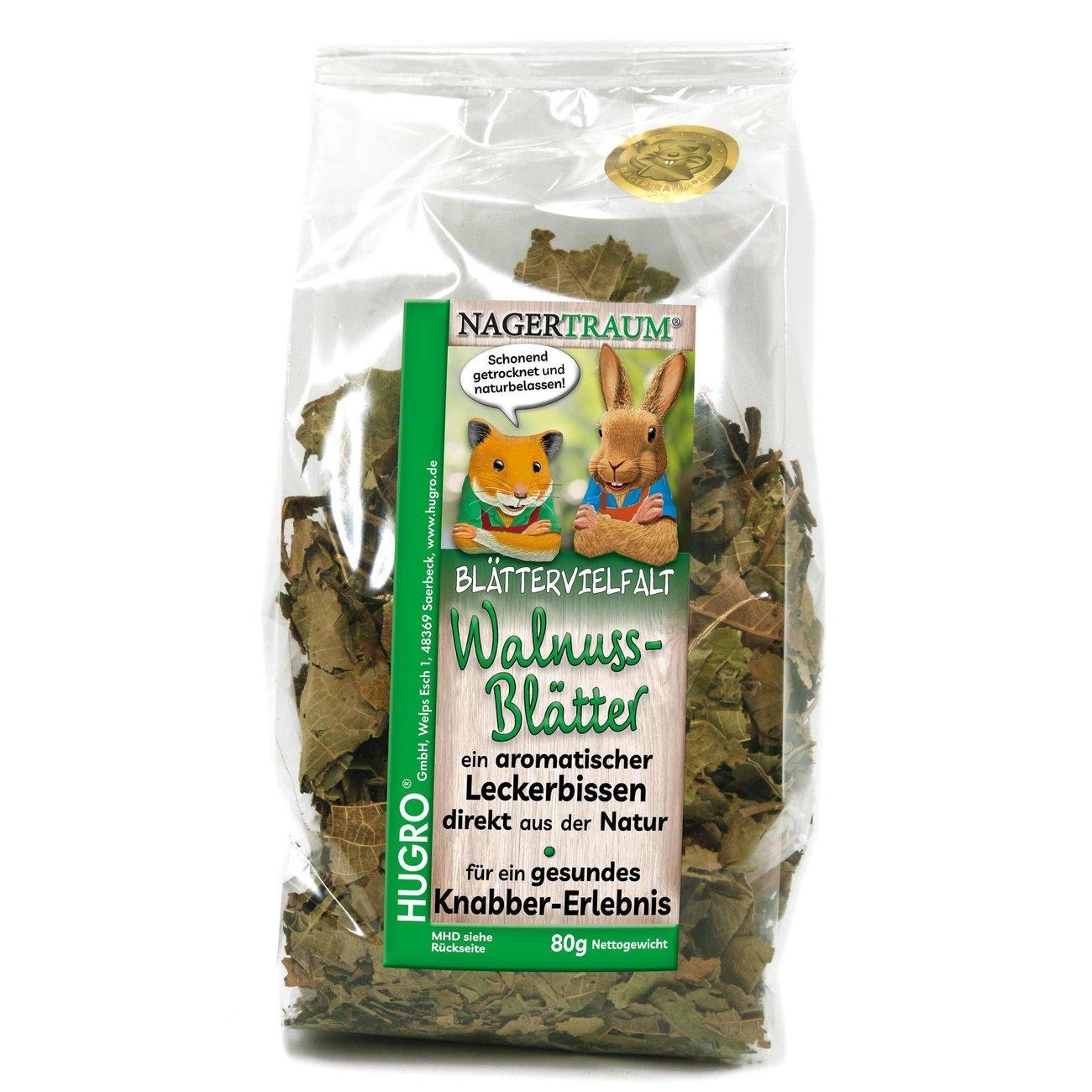 HUGRO® Nagertraum Walnussblätter, 80 g