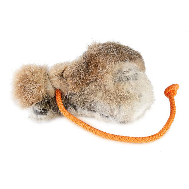 Firedog Hunde Dummy Ball mit Fell, 150g mit Kaninchenfell