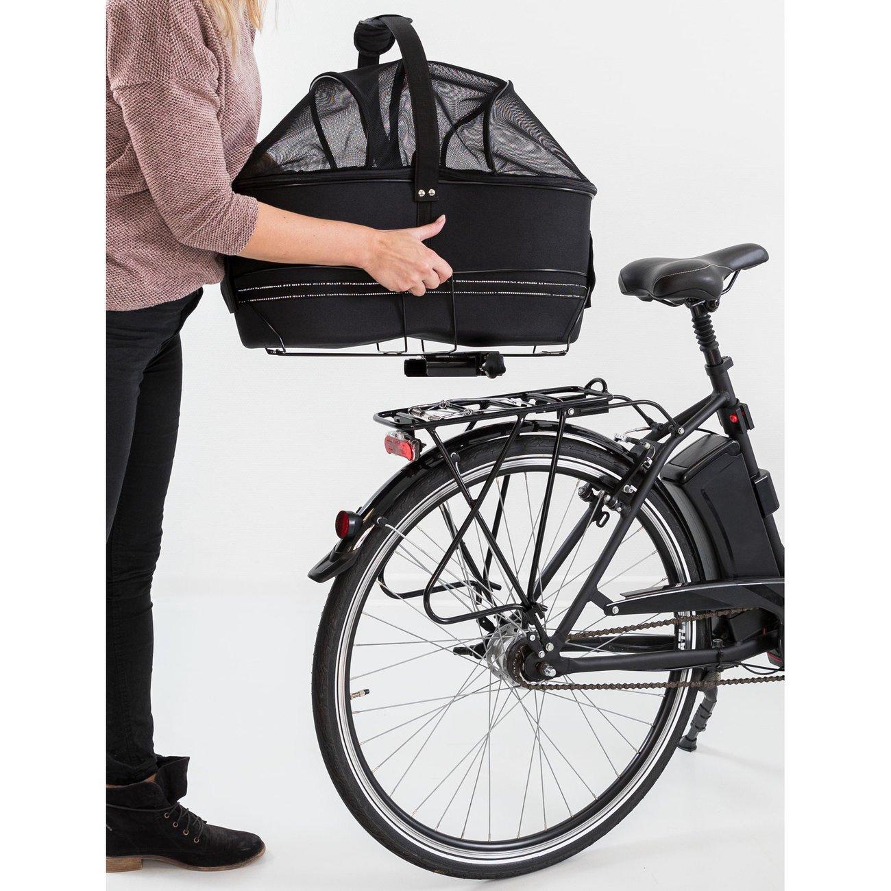 TRIXIE Hunde Fahrradkorb Long für breite Gepäckträger 13110, Bild 14