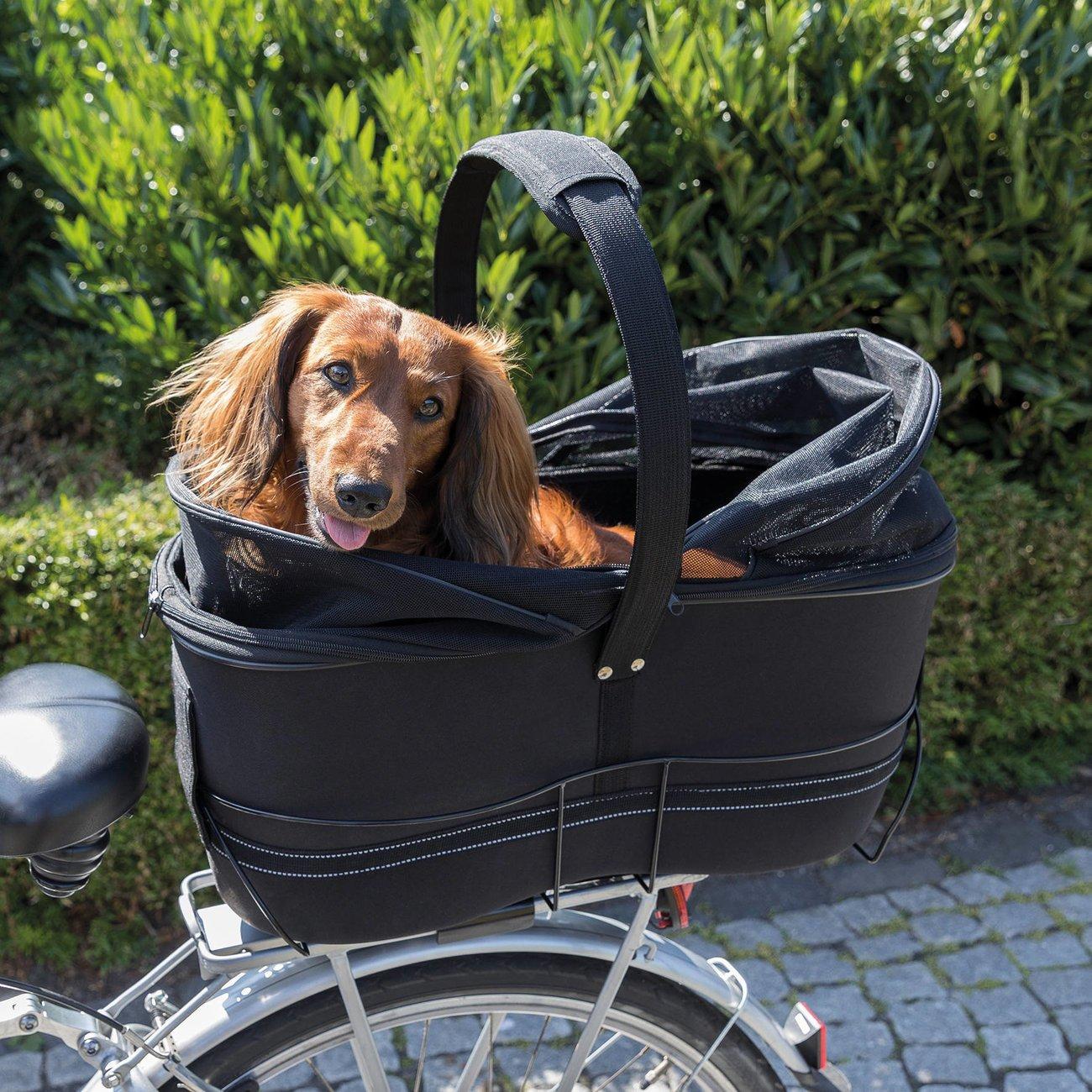 TRIXIE Hunde Fahrradkorb Long für breite Gepäckträger 13110, Bild 8