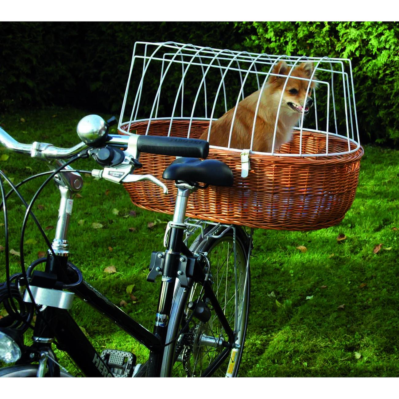 Aumüller Hunde Fahrradkorb XXL für Gepäckträger, XXL: L 70 cm x B 50 cm x H 22/42 cm